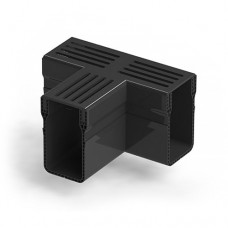 Threshold Drainage Tee Black Aluminium Grating