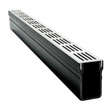 Threshold Drain x 1m Aluminium Grate
