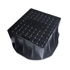 Stop Tap Box 185mm x 190mm x 75mm - Black Polypropylene