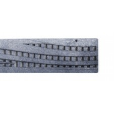 Wave Grate Raw Cast Iron x 300mm