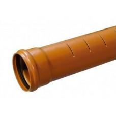 110mm Slotted Underground Drainage x 3m s/s