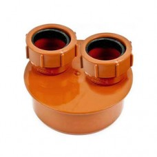 110mm Double Waste Adaptor 32mm - 32mm