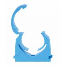 25mm Blue MDPE Hinged Clip - Bag of 20