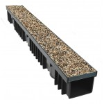 Decorative Porous Pea Gravel Top Channel Drainage