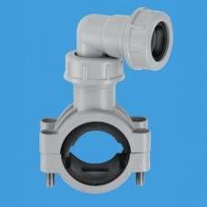 """Overflow 1¼""""/1½"""" Pipe Clamp Grey"""