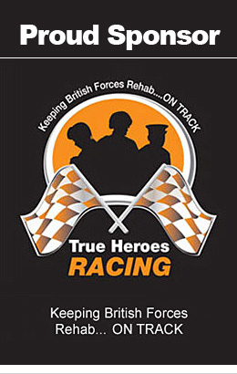 Proud Sponsor of TRUE HEROES RACING -  Keeping British Forces Rehab... on track